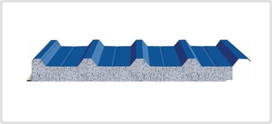 panel mái 4 sóng