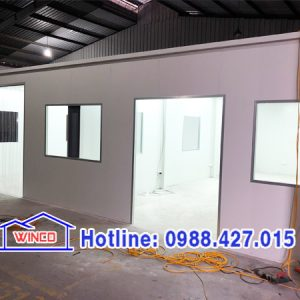 Vách văn phòng công trình ở Nguyễn Khoái, HN